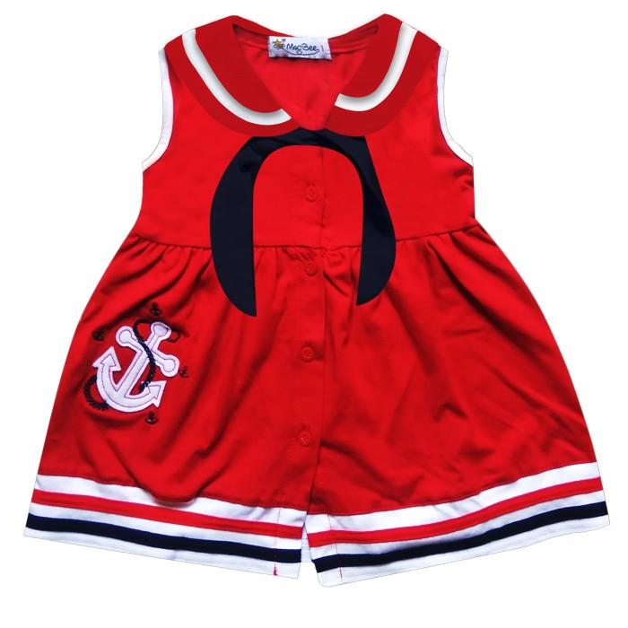 macbee baju anak dress sailor laura - size 3 merah
