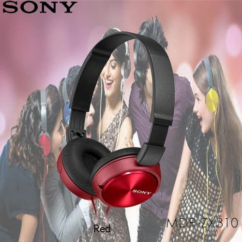sony mdr-zx310ap overbands headset - red