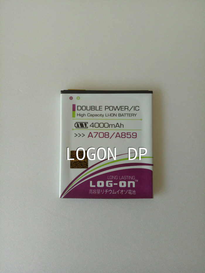 BATERAI LOG ON DOUBLE POWER LENOVO A708 A859(BL-198/BL-212