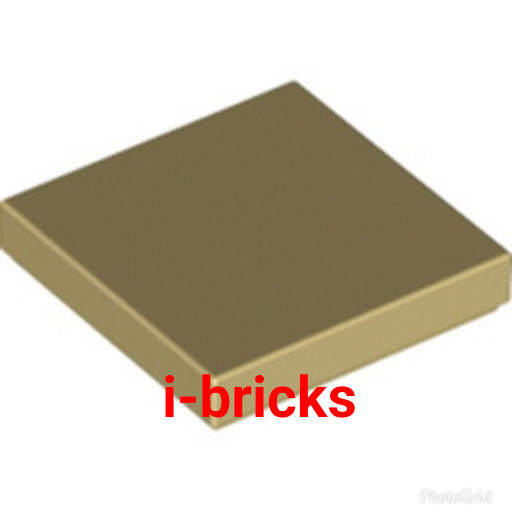 Lego 5 New Dark Tan Tiles 2 x 2 with Groove Flat Smooth Pieces