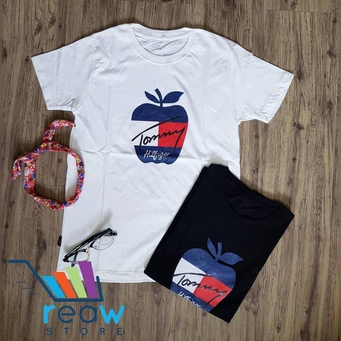 Kaos / Tumblr Tee / T-Shirt Wanita / Cewek T0mmy Hilfig3r Apple