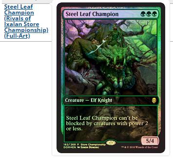 Steel Leaf Champion ~ Dominaria ~ NearMint ~ Magic The Gathering