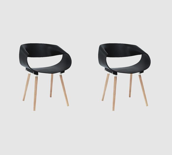 2pcs - stockholm / oslo / kursi kantor / kursi restoran - putih