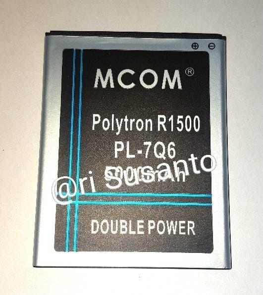 Baterai MCOM For Polytron R1500 Rocket Q-Five Q5 PL-7Q6 Double Power