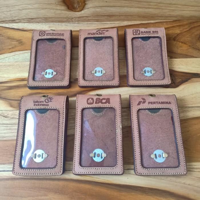 harga Id card holder - kulit sapi asli 2 slot lipat Tokopedia.com