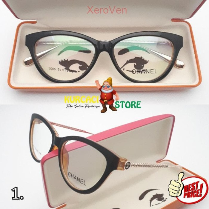 Jual Frame Kacamata Wanita Model Cat Eye Mata Kucing Fashion Branded ... 6b8d5f8b09