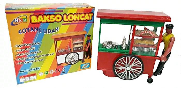 harga Mainan gerobak tukang bakso dorong bakso loncat goyang lidah Tokopedia.com