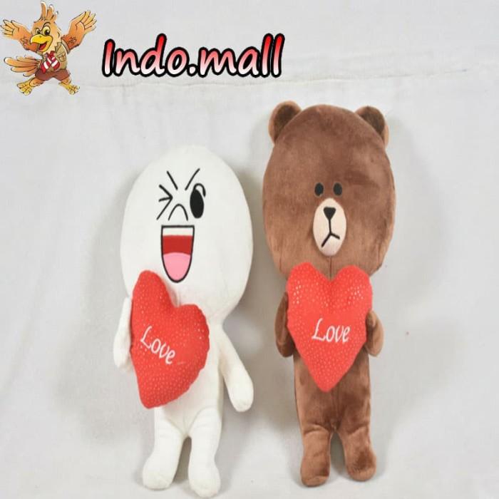Jual Boneka Line Brown Cony Couple Kado Valentine Romantis Ultah Lucu Unik Cek Harga Di Pricearea Com