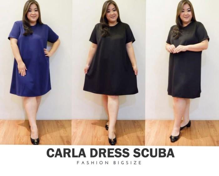 Dress Jumbo Carla Bigsize Baju Dress Wanita Unik
