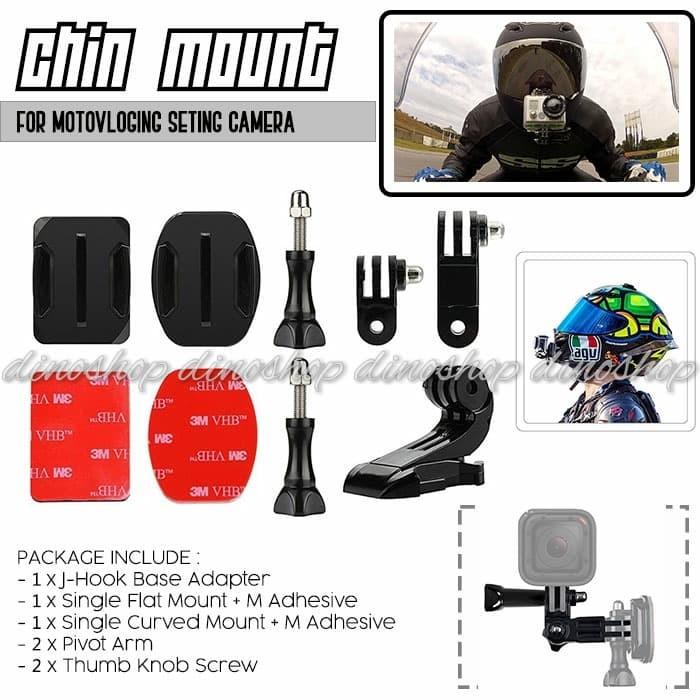 harga Helmet chin mount helm bike motovlog for gopro xiaomi yi brica agv kyt Tokopedia.com