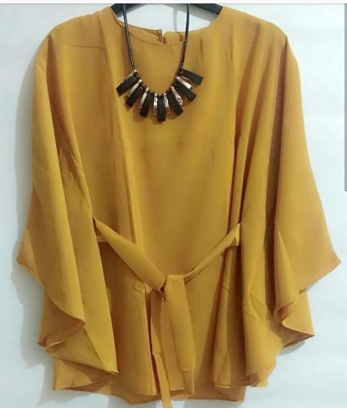 Atasan blouse wanita batwing kelelawar all size - kuning mustard ... 4ecbce1f10