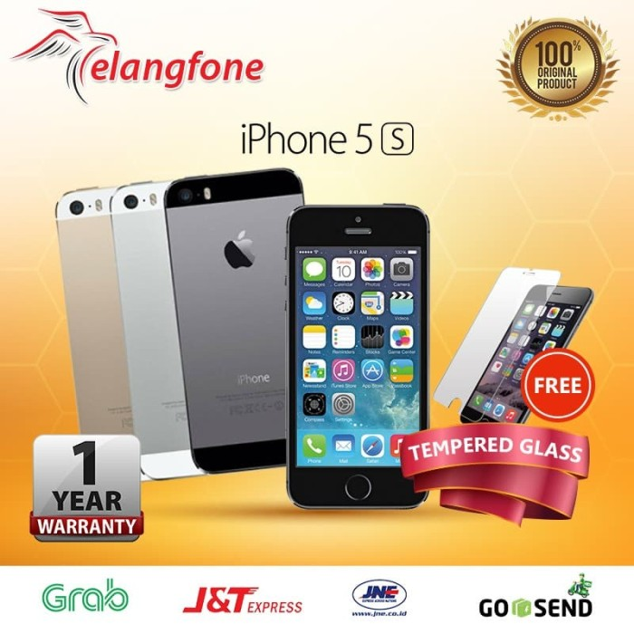 REFURBISHED APPLE IPHONE 5S-64 GB GOLD GARANSI DISTRIBUTOR 1 THN - Perak c26726f0b7