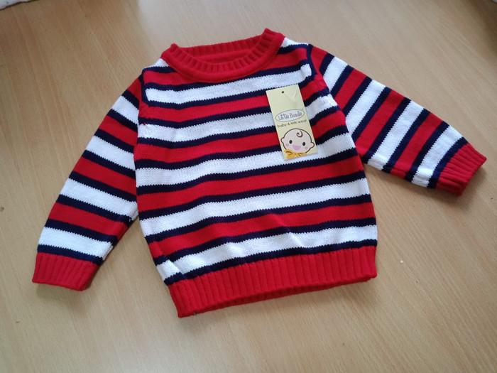 Jual Sweater Jaket Anak Laki Laki Salur Rajut 4505  04360719d1