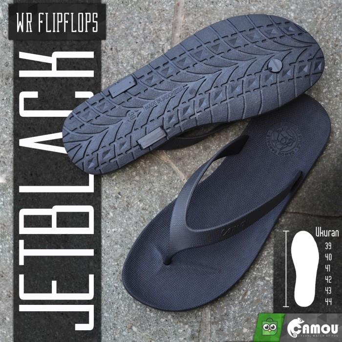 Foto Produk Sandal WR Camou Boy - Laki Limited Edition All Black - Hitam, 42 dari Camou Sandal