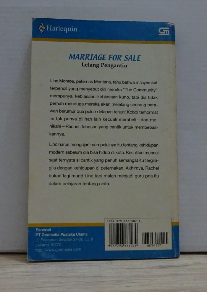 Jual Novel Harlequin Marriage For Sale Lelang Pengantin Carol
