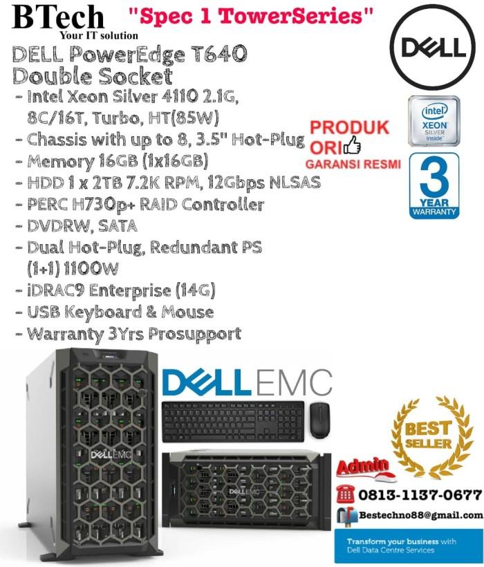 Jual DELL Server T640 Intel Xeon Silver 4110 Double Socket TowerSeries -  DKI Jakarta - BESTechno88 | Tokopedia