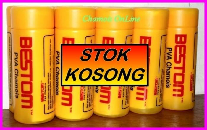 harga Plas chamois / lap kanebo 43cmx32cmx2mm merk : bestom (tabung kuning) Tokopedia.com