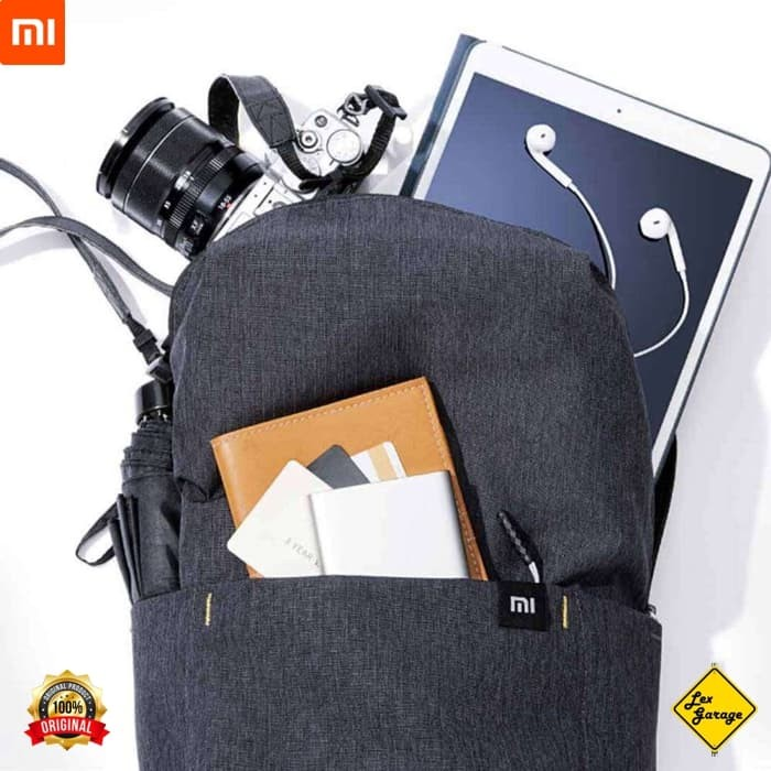 Foto Produk Xiaomi Mi Small Backpack Trendy Solid Color Lightweight Original - Orange dari Lex Garage