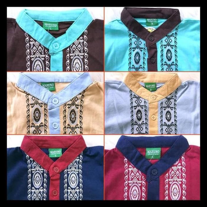 Koko Anak Batik Muslim Baju Setelan Pakaian Gamis Anak Berkelas Maruno 3