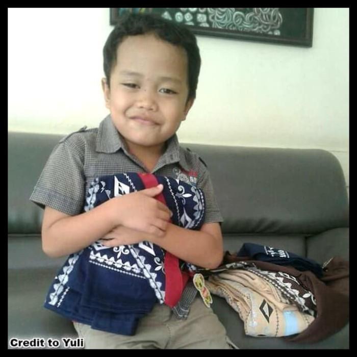 Koko Anak Batik Muslim Baju Setelan Pakaian Gamis Anak Berkelas Maruno 2