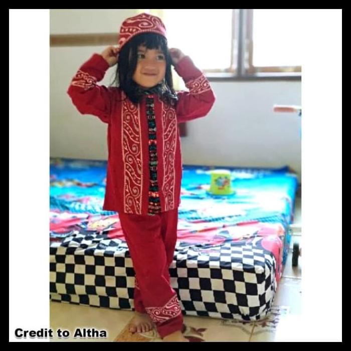 Koko Anak Batik Muslim Baju Setelan Pakaian Gamis Anak Berkelas Maruno 1