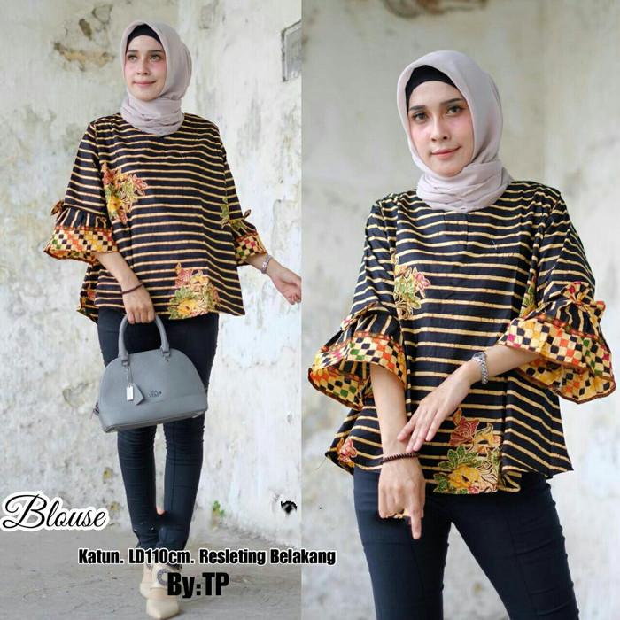 harga Blus jumbo batik klasik - blouse / big size / xxl / baju batik solo Tokopedia.com