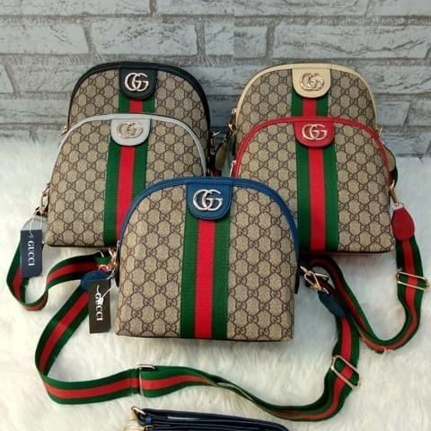 643ceca1f6e Tas Selempang Gucci Alma BCL Sling Bag Fashion Artis Tas Cewek Import - Emas
