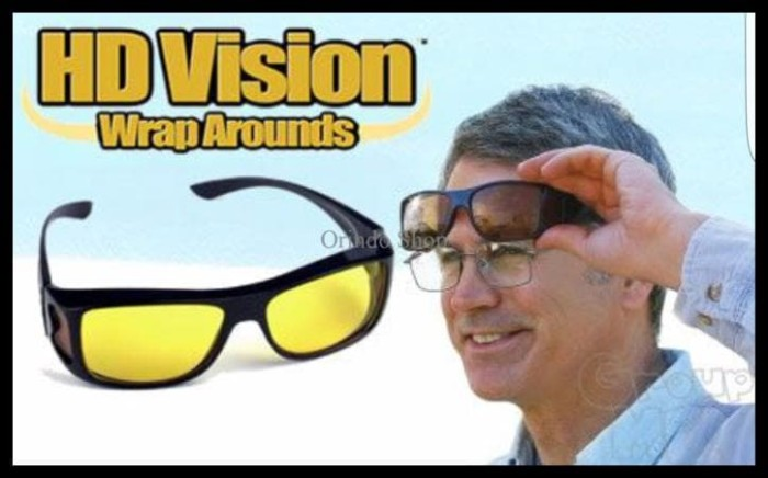 Hd Vision Sunglass Isi 2 Pcs Kacamata Hd Vision Hd Vision Wrap ... 23bb738971