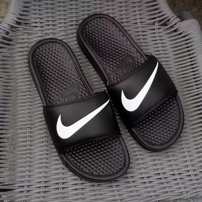Nike Black Motif Original Flop Flip Jual Hitam Selatan Jakarta Swoosh Benassi GayoshoopTokopedia Sandal n0OwkP