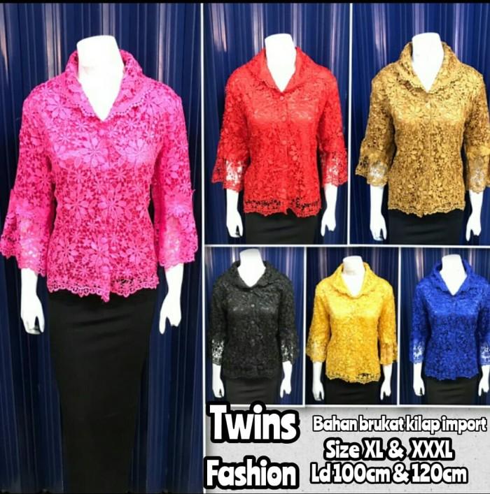... harga Atasan brokat import mewah jumbo - blouse pesta brukat import  Tokopedia.com 65fdcc37c5