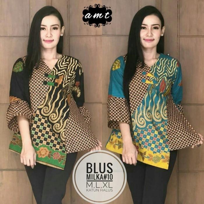 harga Batik solo blus milka 10 amt batik amanah surakarta Tokopedia.com
