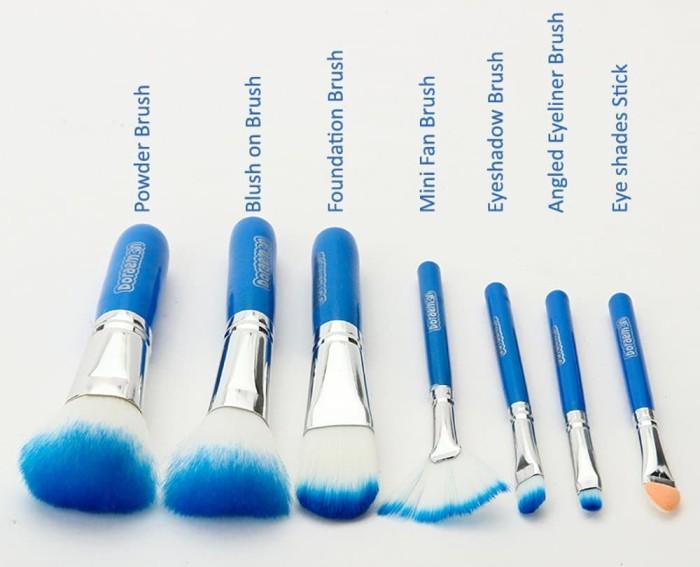 Kuas Doraemon Brush Kaleng 7 in 1 / Make Up Brush / Kuas Make Up