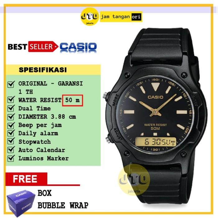 Jual Jam Tangan Casio Original Pria Wanita Unisex AW 49HE 1A AW49HE ... 1a647a6f89