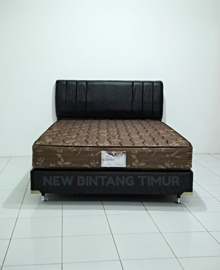 spring bed guhdo new prima coklat 160 x 200 hb queen full set