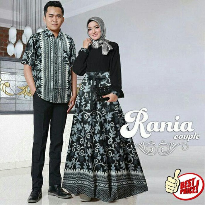 Jual Model Baju Muslim Gamis Terbaru Dan Modern Couple Batik Rania Dki Jakarta Tokoshimura51 Tokopedia