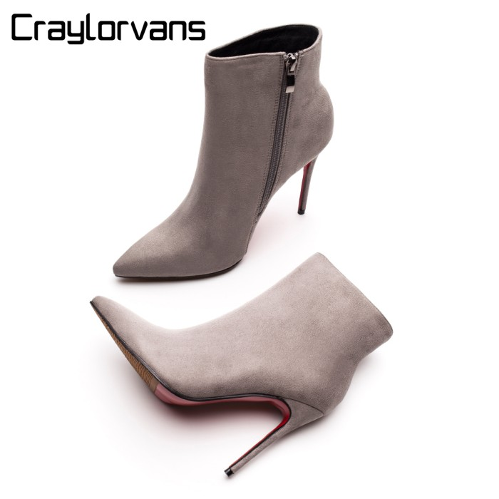 save off 51e64 7f5b8 Jual Craylorvans Red Bottom High Heels Boots 2018 Winter Autumn Women Boot  - DKI Jakarta - Beauty Tas dan Sepatu | Tokopedia
