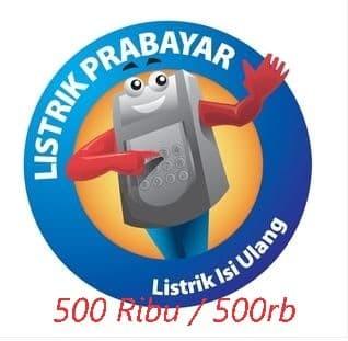 harga Token / voucher pln / listrik prabayar 500 ribu / 500rb Tokopedia.com