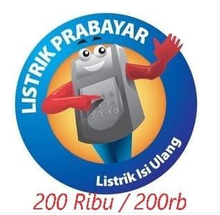 harga Token / voucher pln / listrik prabayar 200 ribu / 200rb Tokopedia.com