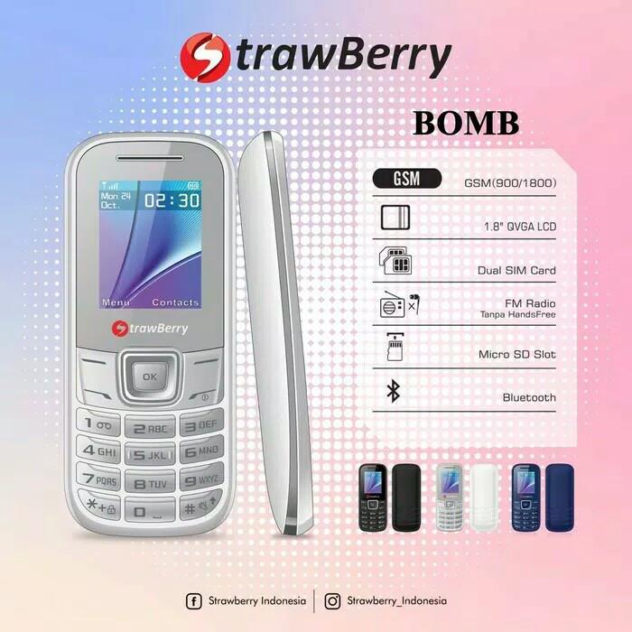 harga Strawberry s5 bomb - 1.8 inch - dual sim Tokopedia.com