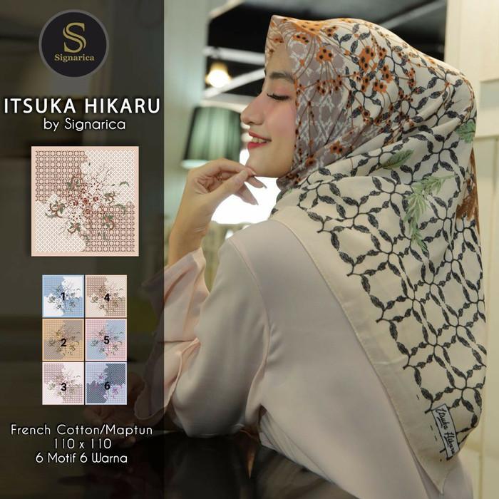 Jilbab hijab segiempat maptun bunga. jilbab signarica. kerudung motif