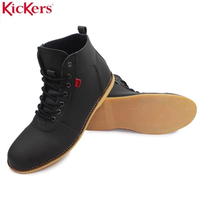 harga Sepatu kickers brodo casual sneakers pria formal semi boots hitam Tokopedia.com