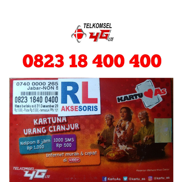 Nomor Cantik Telkomsel 400 400 Nomor Cantik Simpati AS 400400
