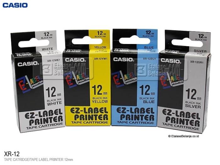 harga Casio xr-12 - tape label printer 12mm Tokopedia.com