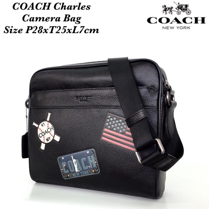 Tas Coach Grade ORI Mirror Import Charles Bag Crossbody Selempang Pria 45ecbd97da