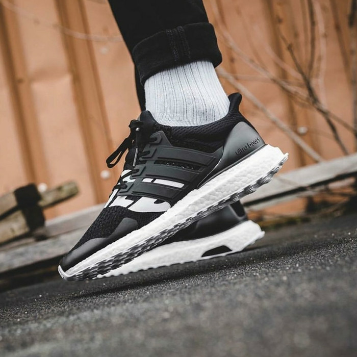 20ee8fde53111 Jual Adidas Ultra Boost X Undefeated Black White Premium High ...