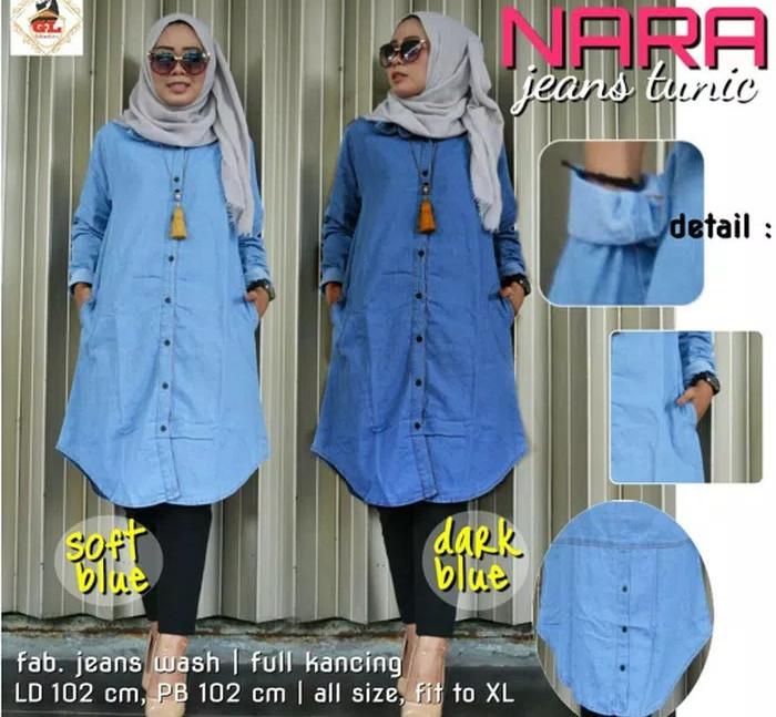 Jual Kemeja Denim Jeans Levis Tunik Baju Dress Midi Kemeja Wanita Muslim Xl Jakarta Pusat Bell S Boutique Tokopedia