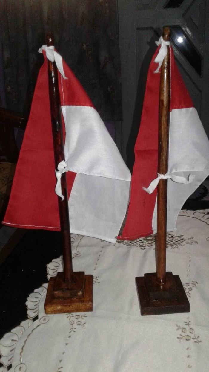 Jual Hiasan Kemerdekaan Bendera Meja Negara Indonesia Tiang Bendera Kayu Jakarta Barat Borobudur Online