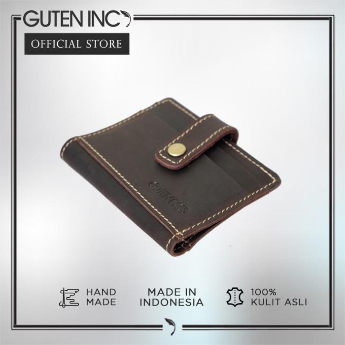 guten inc -  diavel card holder coffee / tempat kartu kulit