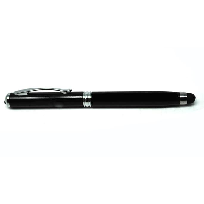 harga Stylus 4 in 1 ballpoint + laser pointer + senter - black Tokopedia.com