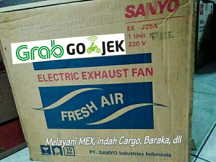 Sanyo Exhaust Fan EK-J25 Ventilating Tembok Wall Asli, Baru